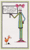 Janlynn Dolly Mamas Cross Stitch Kit, Big Girl Panties