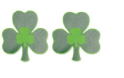 Irish Shamrock Plastic Glitter Cutout Decorations