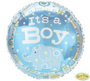 It's a Boy Blue Zoobilee Elephant 46cm Mylar Balloon