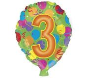 Happy Birthday #3 Colourful Polka Dot 46cm Mylar Balloon
