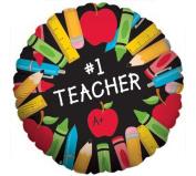 #1 Teacher A+ 46cm Mylar Balloon