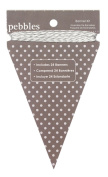 Pebbles Basics Ash Triangle Banner Kit
