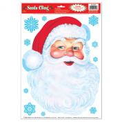 Beistle Santa Face Cling, 30cm by 43cm Sheet