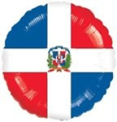 DOMINICAN FLAG 46cm balloons Festivals Parade WORLD CUP