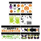 "Miscellaneous Halloween Window Decor Gels(comments Section Says Which One of These You Are Buying ""Witch, Skeletin, Skull, Pumpkins, Ghost Boo, Eyes, Happy Halloween Green Hands"" Only 1 Pkg Per Order."