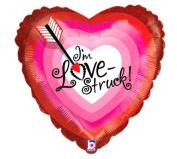 I'm Love Struck Bullseye Heart Shaped