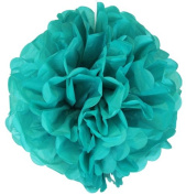 Tissue Pom Pom Paper Flower Ball 41cm Teal -Just Artefacts Brand