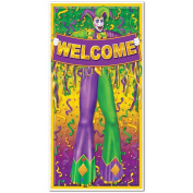 Beistle 57320 Mardi Gras Door Cover, 80cm by 5-Feet