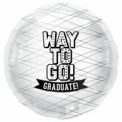 Way To Go White-Round 46cm Foil Balloon