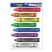 Beistle 54440 Crayons Peel 'N Place Sheet, 30cm by 43cm