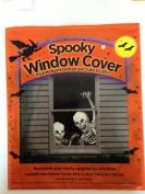 Creepy Halloween Skeletons Window Cover 80cm . x 120cm .