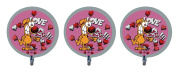 """3 Mother Goose and Grimm """"Love Ya"""" Grimmy Foil Balloons"""