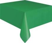 Elegant Plastic Table Cover - Christmas Green