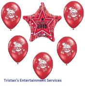 Class of 2014 Red Balloon Kit (6 pce.) Graduation