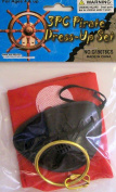Pirate Black Eye Patch Set with NonWoven Scarf & Gold Earring