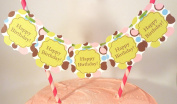 "Bella Cupcake Couture ""Happy Birthday"" Polka Dots Itty Bitty Banner"