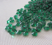 Easy More 2000 Diamond Table Confetti Wedding Bridal Shower Party Decorations 1 Carat/6mm Dark Green