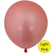 Light Pink Metallic Balloons - 8 Pack