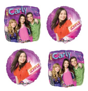 4 iCarly Mylar Balloons - Party Balloon Bundle of 4 Foil Balloons