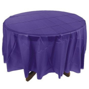 Purple Round Table Cover - Easter & Party Supplies