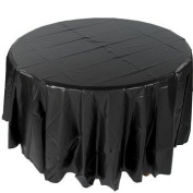 Black Round Table Cover - Halloween Party Supplies & Decorations & Party Favour & Goody Bags