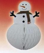 Snowman 32cm Tissue Honeycomb Centrepiece Christmas Holiday Decoration
