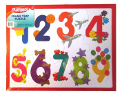 PLAYSKOOL 36cm x 28cm 12 Piece Number Puzzle With Frame Tray Great Gift!