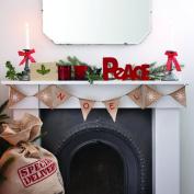 "Ginger Ray ""Noel"" Christmas Burlap Hessian Bunting - Vintage Noel Decoration"