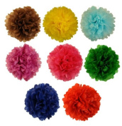 Tissue Pom Pom Paper Flower Ball 25cm 8 Assorted Colour -Just Artefacts Brand