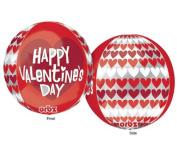 Happy Valentine's Day 46cm Orbz Balloon