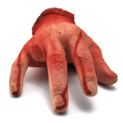 1PC Custom Scary Bloody Life Size Halloween Haunted House Prop Men's Hand Part Ring Finger Choppered