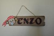 Mini Pirate Themed Door Hanger Sign