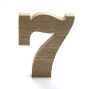 Koyal Wholesale No.7 Vintage Freestanding Wooden Numbers, 12cm