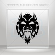 Sticker Decals Wolf Heaf car window bike ATV jet-ski Garage door 0502 W9588