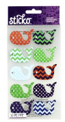 Sticko Scrapbooking Stickers, Patterned Whales