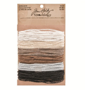 Solids Paper String by Tim Holtz Idea-ology, 5 Yards of Each Colour, 6 Colours, TH93044