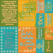 Reminisce - Paradise Collection - 12 x 12 Cardstock Stickers