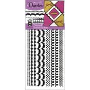 Stitched Dazzles Stickers - Borders Black