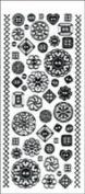 Dazzles Stickers - Buttons Black Glitter