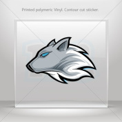 Sticker Decals Wolf Head car window bike ATV jet-ski Garage door 0500 RS258