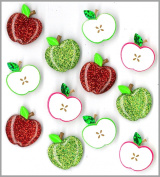 Jolee's Boutique Cabochons Dimensional Stickers, Cute Apple