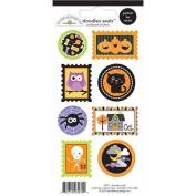 Doodlebug Halloween Parade 3x6 Cardstock Seal Stickers