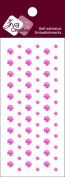 Zva Creative CRW-04CB-125 Crystal Sticker, Pink Individuals