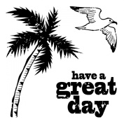 Clear Mini Stamps: Palm Tree