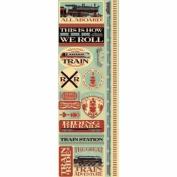 Reminisce Signature Series Train Combo Scrapbook Sticker