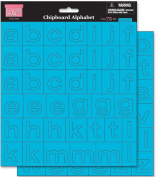 Chipboard Alphabet 20cm by 20cm Sheets, 2/Pkg, Tropical Rain
