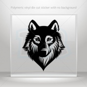Sticker Decals Wolf Head car window bike ATV jet-ski Garage door 0502 RS238