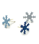 Creative Impressions Painted Metal Paper Fasteners, 50/Pkg, Winter - Snowflakes