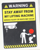 Decal Sticker Funny Stay Away From My Lifting Machine Vehicle Garage door 0500 X4573