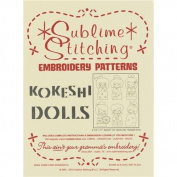 Sublime Stitching Embroidery Patterns-Kokeshi Dolls